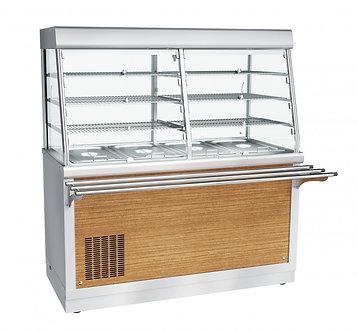 Прилавок-витрина холодильный с нейтральным шкафом Abat ПВВ(Н)-70Х-С-01-НШ