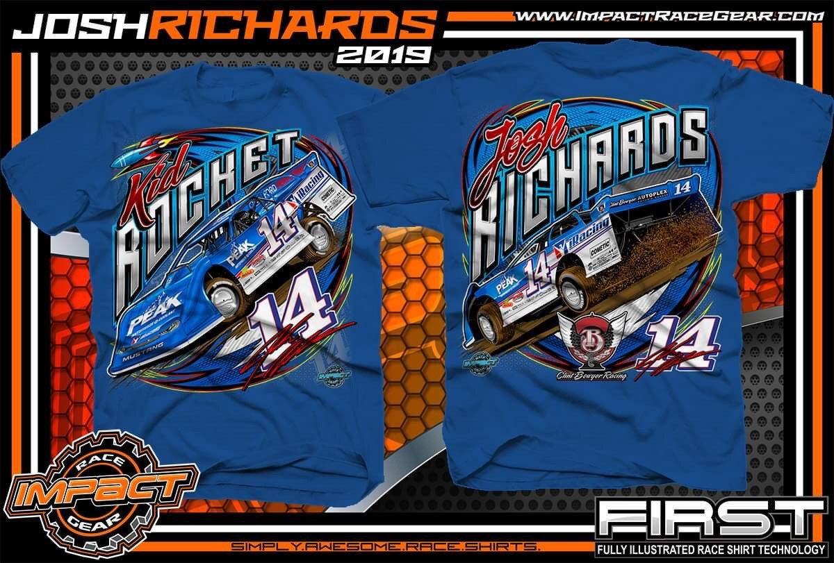 Josh Richards Royal Blue Car Shirt