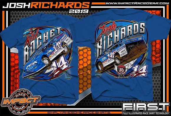 2019 Josh Richards Royal Blue Car Shirt