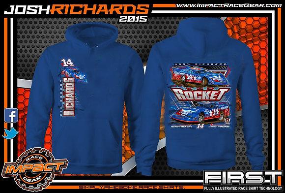 2020 Josh Richards Royal Blue Hoodie
