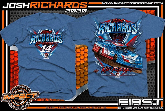 2020 Josh Richards Blue Heather T-Shirt