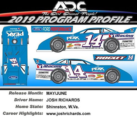 1:64 Josh Richards 2019 Diecast