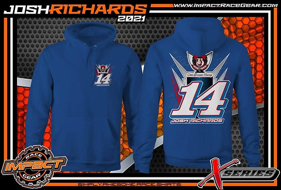 2021 Josh Richards Royal Blue No. 14 Hoodie