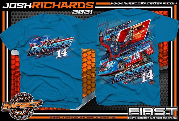 2021 Josh Richards Sapphire Blue T-Shirt