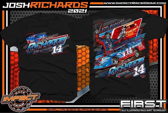 2021 Josh Richards Black T-Shirt