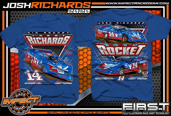2020 Josh Richards Royal Blue Car Shirt