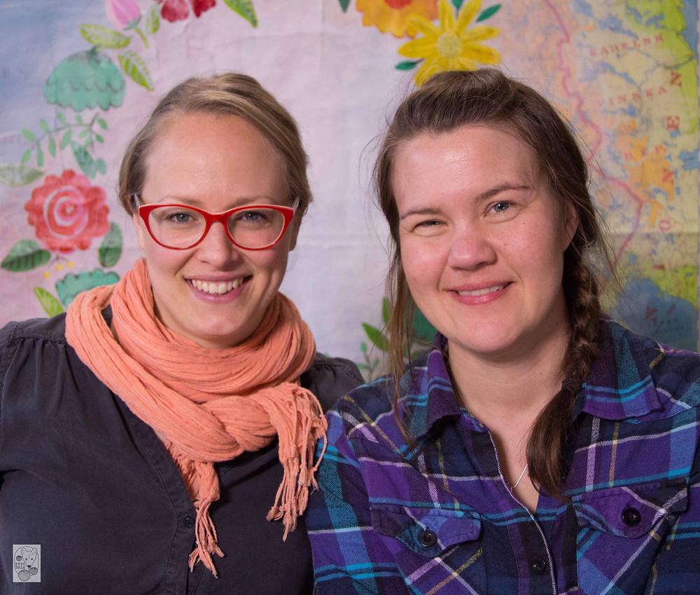 Program host Elin and me. Photo credit: Strömsö.