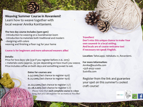 Weaving summer courses in July!