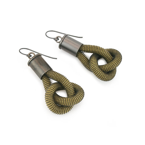 Anna Earrings Olive Dark