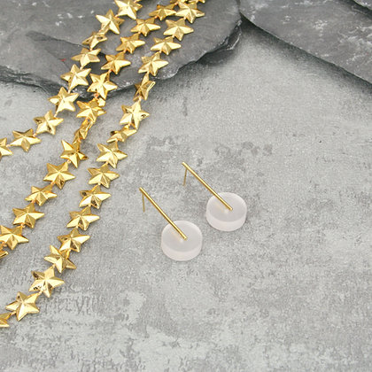 Kasia Small Earrings Gold & Frosted