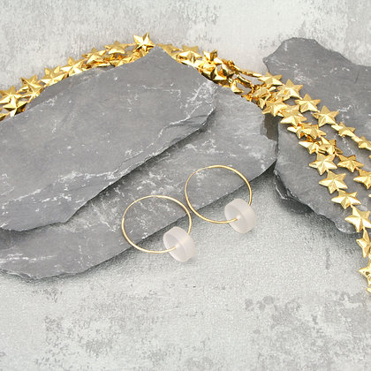 Kasia Hoops Gold & Frosted