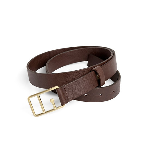 Sophie Leather Belt Brown & Gold