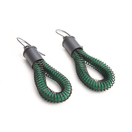 Riley Earrings Green