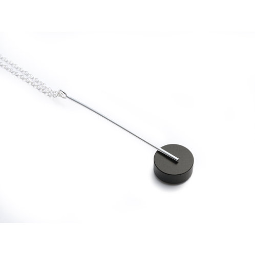 Kasia Pendant Silver & Black
