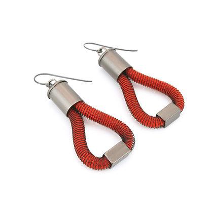 Molly  Earrings Orange Dark