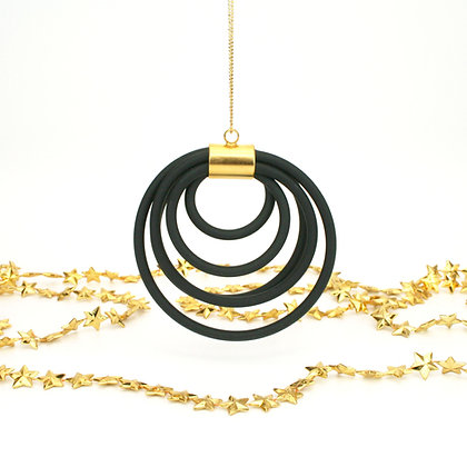 Circles Ornament Black & Gold