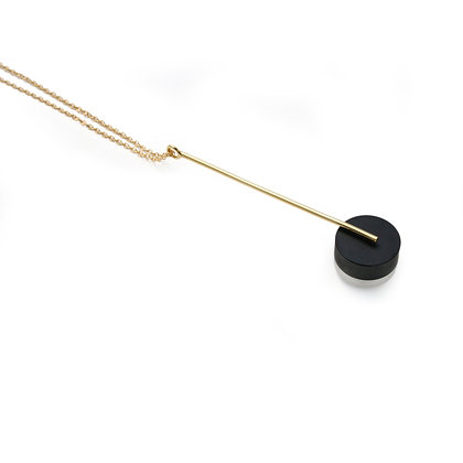 Kasia Pendant Gold, Black & Frost