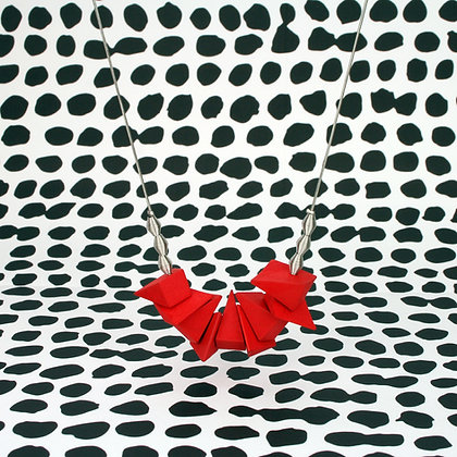 Dina Necklace Red