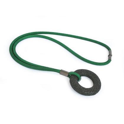 Addison Necklace Green Dark