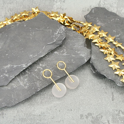 Alicia Small Earrings Gold & Frosted