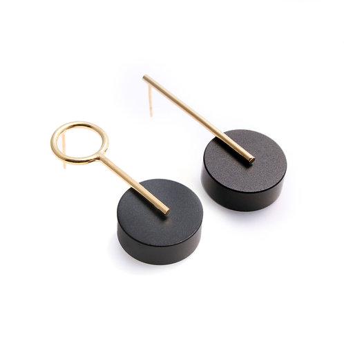 Kassandra Earrings Gold & Black