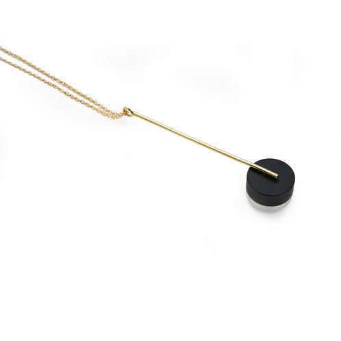 Kasia Pendant Gold & Black/Frost
