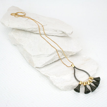 Blaze Pendant Black & Gold