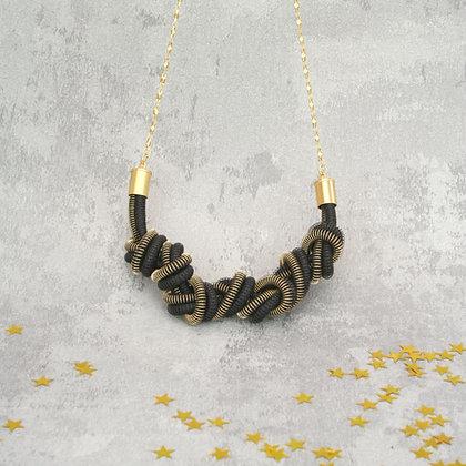Eloise Necklace Gold Black