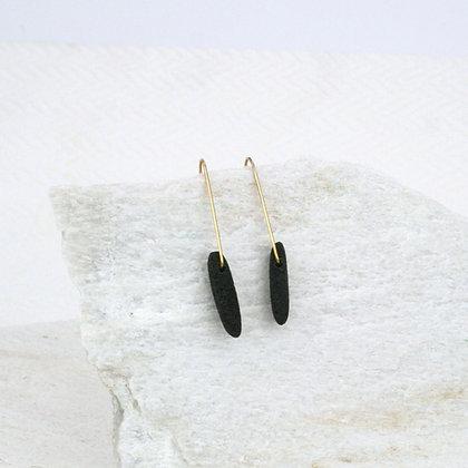 Shard Black Lava Earrings