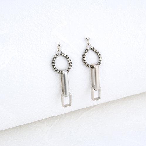 Fox Earrings Silver