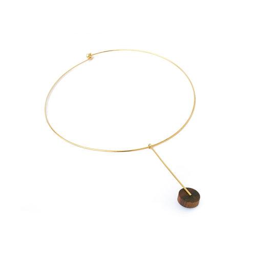 Kasia Choker Gold & Wood