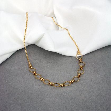 Myla Necklace Half Gold