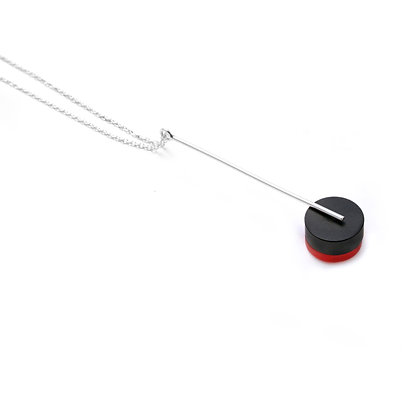 Kasia Pendant Silver, Black & Red