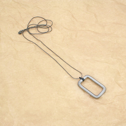 Rectangle Pendant Silver