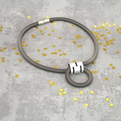 Aurora Necklace Silver Black