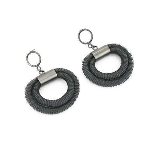 Orly Earrings Grey Dark
