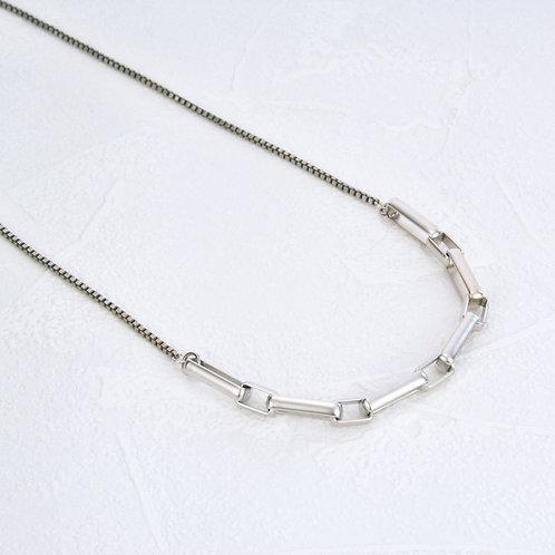 Fox Half Necklace Silver