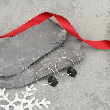 Kasia Hoops Silver & Black