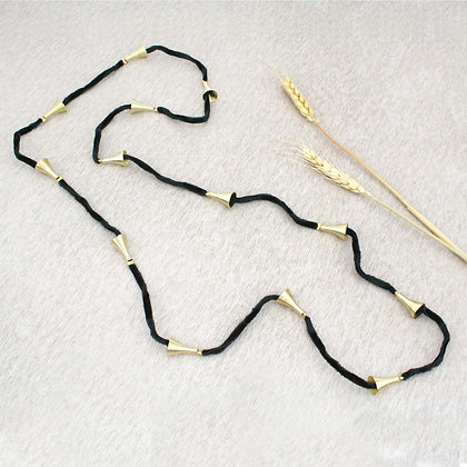 Cone Necklace Black Gold
