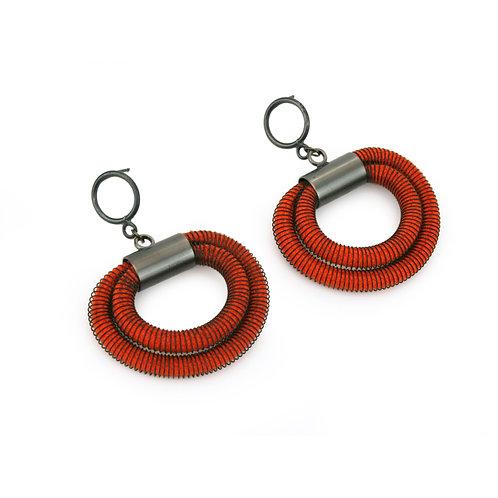 Orly Earrings Orange Dark