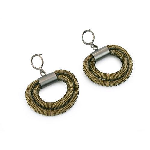 Orly Earrings Olive Dark