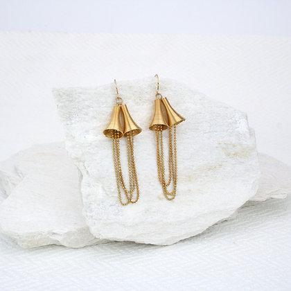 Bell Earrings Gold