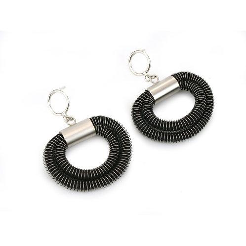 Orly Earrings Black Silver