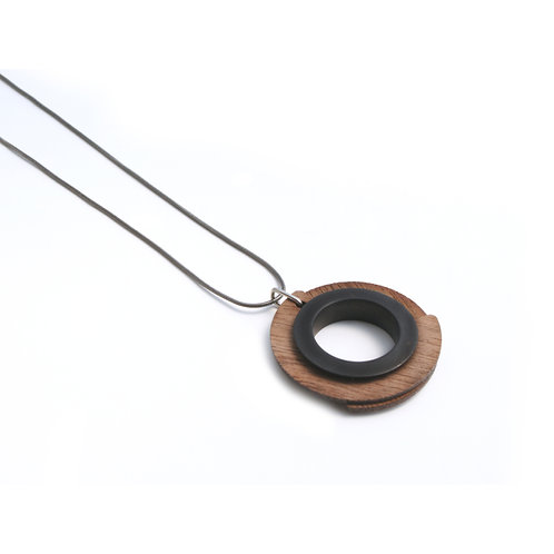 Wood Pendant Black