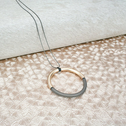 Lucy Pendant Rose Gold & Grey