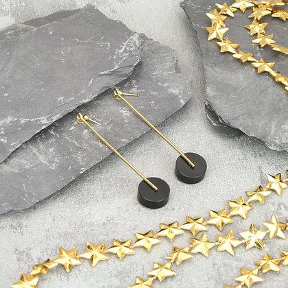 Kasia Large Earrings Gold & Black