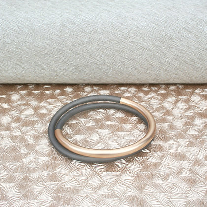 Lucy Bangle Rose Gold & Grey