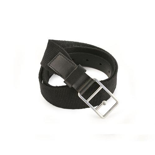 Selina Leather Belt Black & Silver