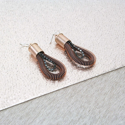 Loop Chain Earrings Dark Blush