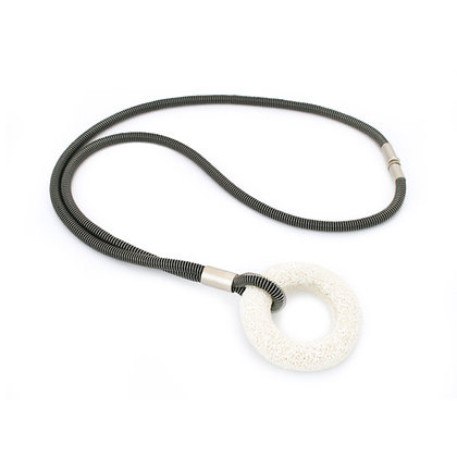 Addison Necklace Black Silver